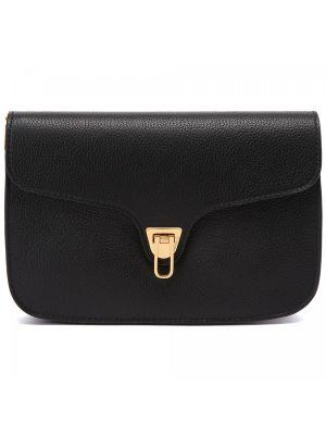Черная кожаная сумка Coccinelle