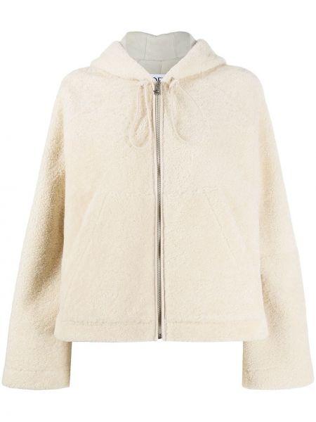 Прямая куртка на молнии из овчины с карманами Loewe