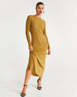 Платье приталенное длинное Mango