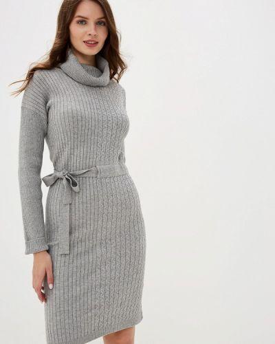 Платье серое вязаное Conso Wear