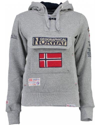 Серая повседневная толстовка Geographical Norway