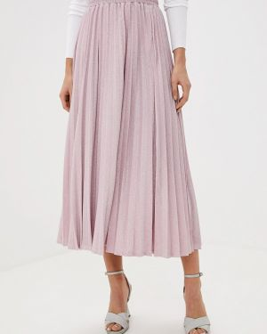 Плиссированная юбка джинсовая розовая Guess Jeans