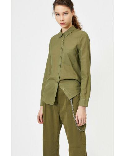 Koszula bawełniana - zielona Koton