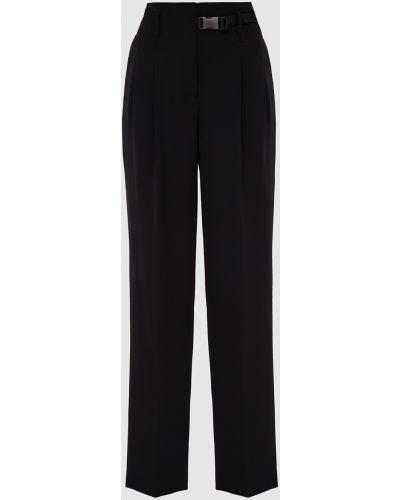Прямые черные брюки Prada