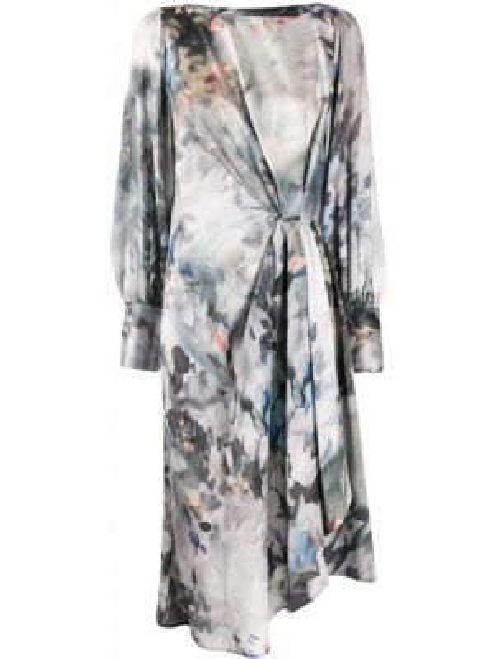 Платье с оборками с рукавами Lautre Chose
