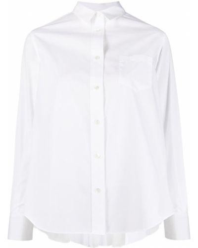 Длинная рубашка - белая Sacai