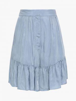 Синие шорты атласные Tibi