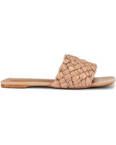 Sandały na obcasie skorzane Raye