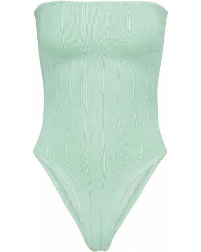Нейлоновый зеленый купальник бандо Hunza G