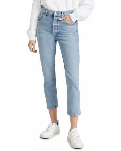 Mom jeans bawełniane Agolde
