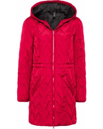 Стеганая красная куртка на молнии Bonprix