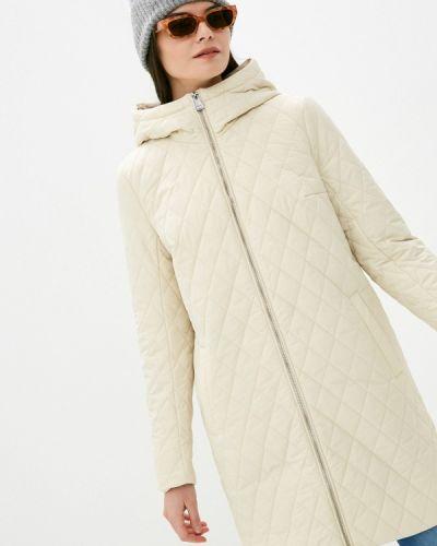Свободная бежевая утепленная куртка Finn Flare