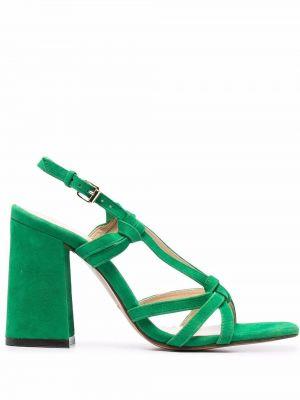 Zielone sandały na obcasie Tila March