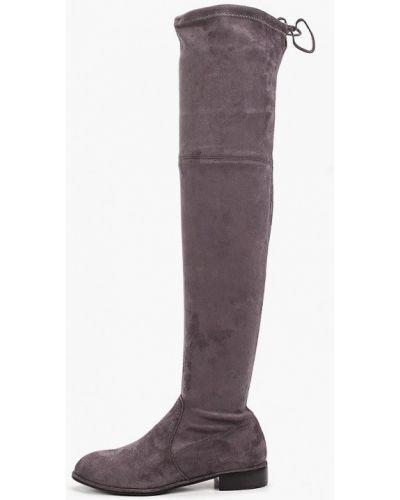 Велюровые серые ботфорты Diora.rim