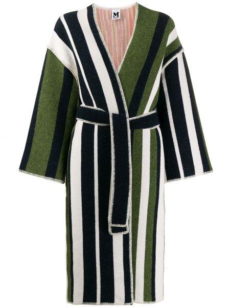 Зеленое шерстяное пальто M Missoni