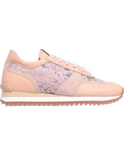 Кроссовки бежевые розовый Le Silla