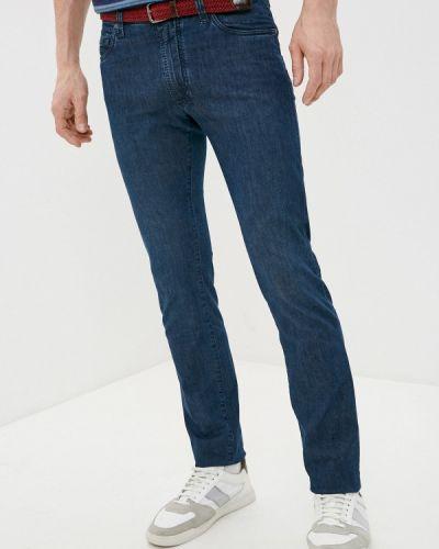 Синие зауженные джинсы-скинни Cortigiani
