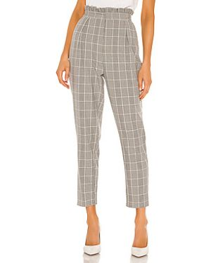 Шелковые серые плиссированные брюки с карманами Cupcakes And Cashmere