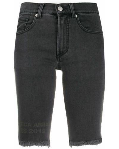 Черные классические джинсовые шорты с карманами на пуговицах Artica Arbox