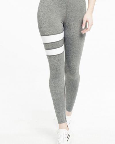 Спортивные брюки серые с завышенной талией Gym Hero