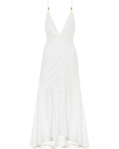 Ватное белое хлопковое платье миди Galvan