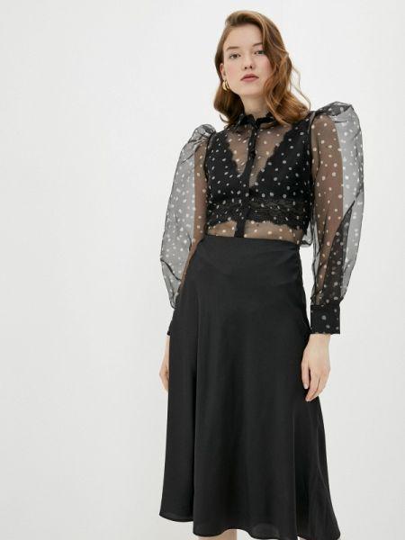 Блузка с длинным рукавом черная весенний Imperial