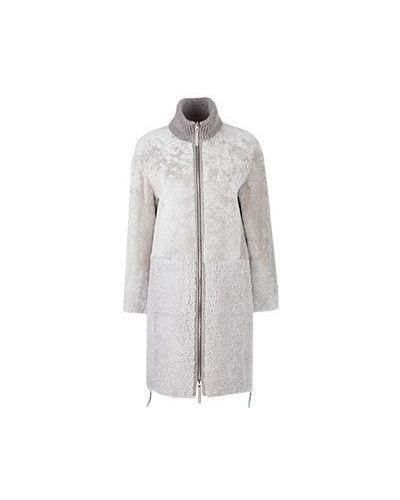 Бежевое пальто Diego M