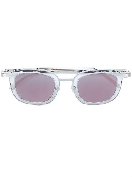 Желтые солнцезащитные очки квадратные металлические с завязками Thierry Lasry