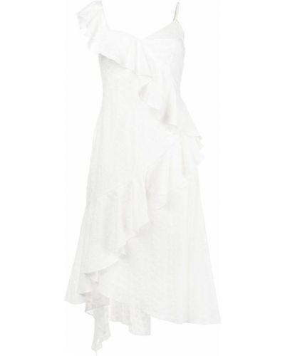 Асимметричное платье миди с вышивкой Teija