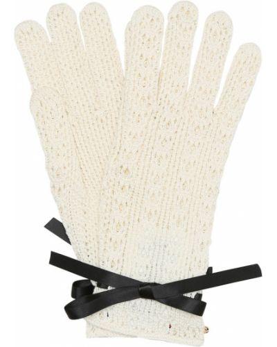 Хлопковые перчатки - белые Gucci