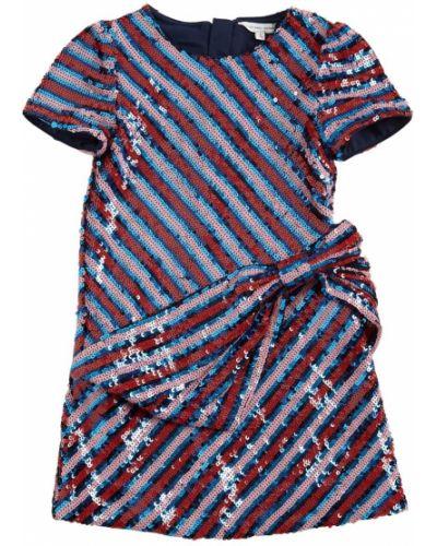 Платье мини с короткими рукавами на молнии с пайетками Little Marc Jacobs