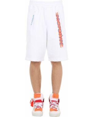 Białe krótkie szorty bawełniane Omc