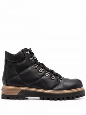 Кожаные ботинки трекинговые - черные Le Silla