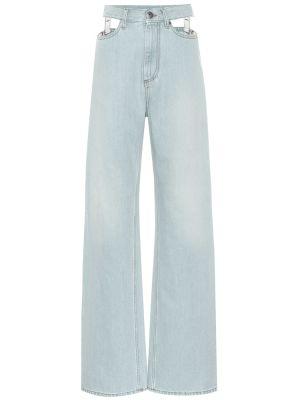Широкие джинсы mom синие Maison Margiela
