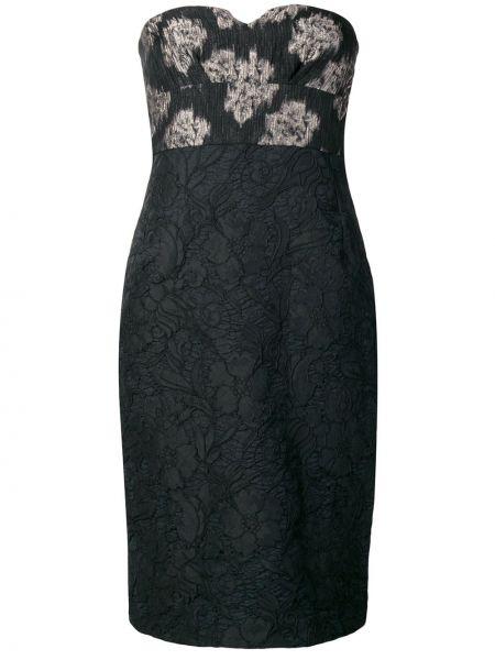 Акриловое платье миди винтажное с вырезом на молнии Kenzo Pre-owned