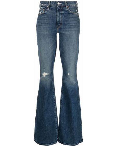 Расклешенные синие с завышенной талией джинсы Mother