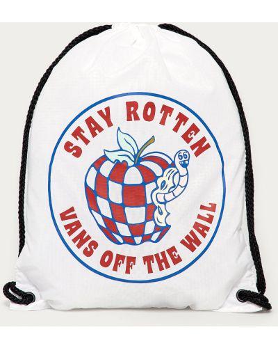 Biały plecak worek z printem Vans