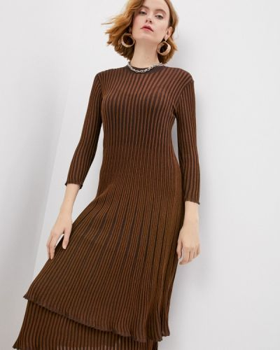 Вязаное трикотажное платье золотое By Malene Birger