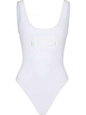 Biały strój kąpielowy Fendi