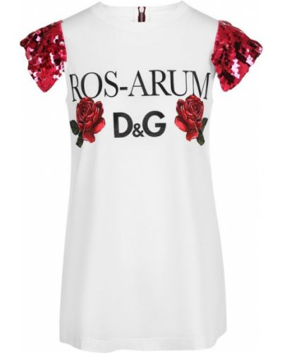 Футболка хлопковая шелковая Dolce & Gabbana