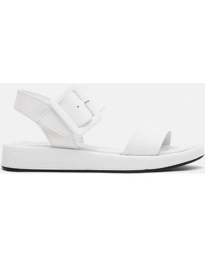Кожаные сандалии - белые Plezuro
