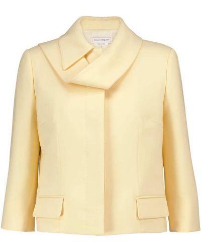 Шерстяная желтая куртка Alexander Mcqueen