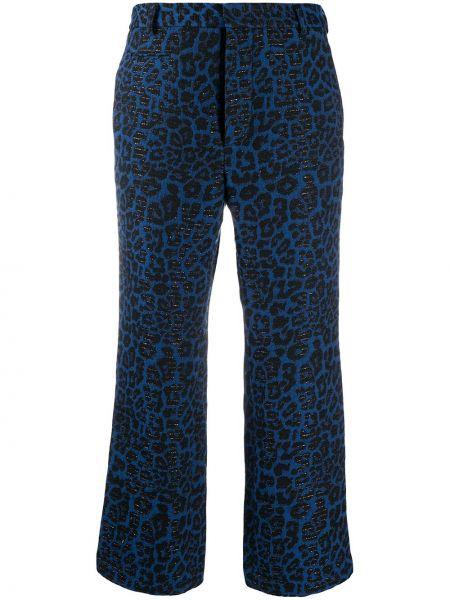Брючные черные укороченные брюки с карманами из вискозы R13