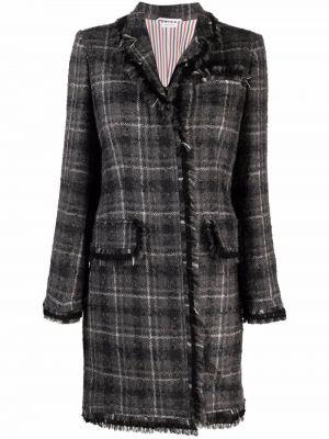 Серое пальто с карманами Thom Browne