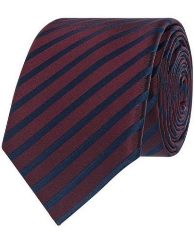 Klasyczny krawat w paski z jedwabiu Monti