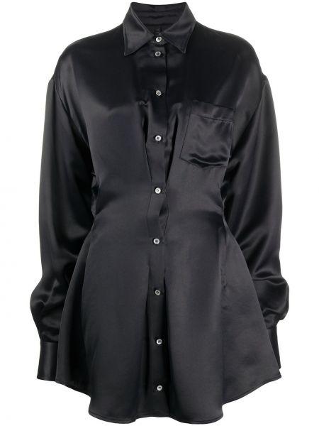 Расклешенное классическое платье на пуговицах с воротником Unravel Project