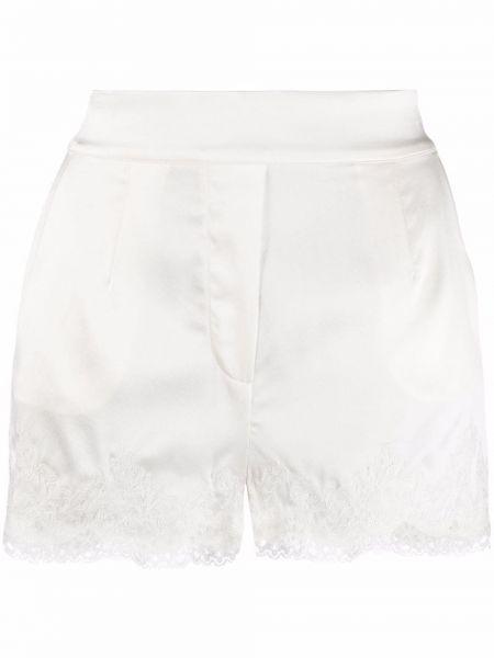 Кружевные белые шорты без застежки Agent Provocateur