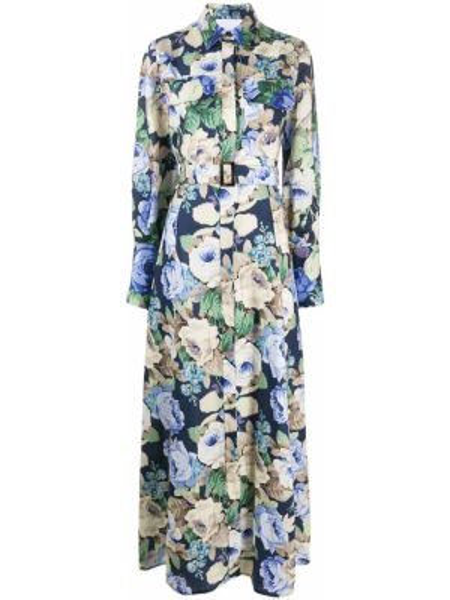 Платье макси с цветочным принтом классическое Erika Cavallini