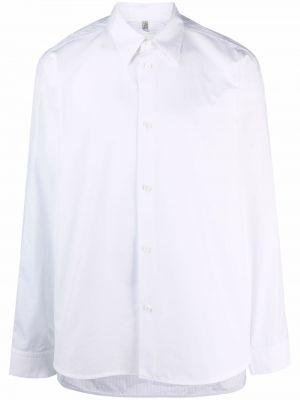 Biała biała koszula z długimi rękawami Oamc