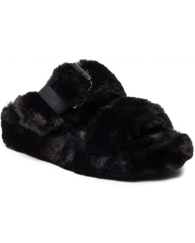 Kapcie z futerkiem - czarne Skechers